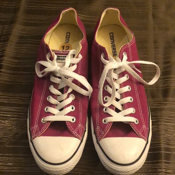 Converse All Star shoes hot pink size 12
